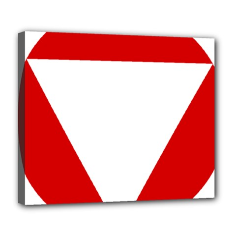 Roundel Of Austrian Air Force  Deluxe Canvas 24  X 20