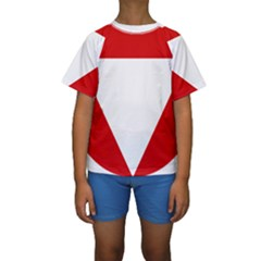 Roundel Of Austrian Air Force  Kids  Short Sleeve Swimwear