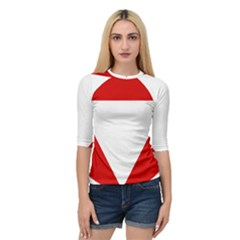 Roundel Of Austrian Air Force  Quarter Sleeve Raglan Tee