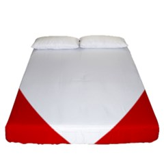 Roundel Of Austrian Air Force  Fitted Sheet (queen Size)