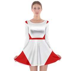 Roundel Of Austrian Air Force  Long Sleeve Skater Dress