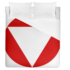 Roundel Of Austrian Air Force  Duvet Cover (queen Size)