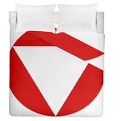 Roundel Of Austrian Air Force  Duvet Cover Double Side (queen Size)
