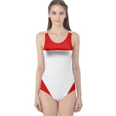 Roundel Of Austrian Air Force  One Piece Swimsuit