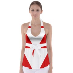 Roundel Of Austrian Air Force  Babydoll Tankini Top