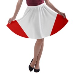 Roundel Of Austrian Air Force  A Line Skater Skirt