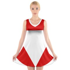 Roundel Of Austrian Air Force  V Neck Sleeveless Skater Dress