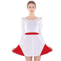 Roundel Of Austrian Air Force  Long Sleeve Velvet Skater Dress