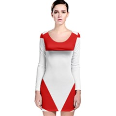 Roundel Of Austrian Air Force  Long Sleeve Velvet Bodycon Dress