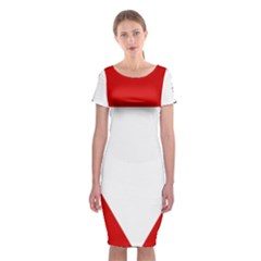 Roundel Of Austrian Air Force  Classic Short Sleeve Midi Dress