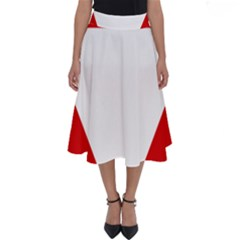 Roundel Of Austrian Air Force  Perfect Length Midi Skirt