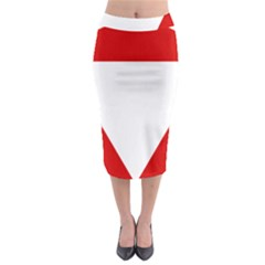 Roundel Of Austrian Air Force  Midi Pencil Skirt