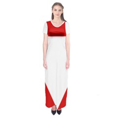Roundel Of Austrian Air Force  Short Sleeve Maxi Dress