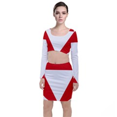 Roundel Of Austrian Air Force  Long Sleeve Crop Top & Bodycon Skirt Set