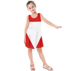 Roundel Of Austrian Air Force  Kids  Sleeveless Dress