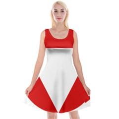 Roundel Of Austrian Air Force  Reversible Velvet Sleeveless Dress