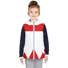Roundel Of Austrian Air Force  Kid s Hooded Puffer Vest