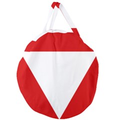 Roundel Of Austrian Air Force  Giant Round Zipper Tote