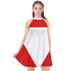 Roundel Of Austrian Air Force  Halter Neckline Chiffon Dress