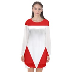 Roundel Of Austrian Air Force  Long Sleeve Chiffon Shift Dress