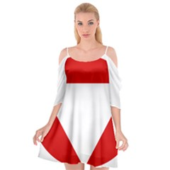 Roundel Of Austrian Air Force  Cutout Spaghetti Strap Chiffon Dress