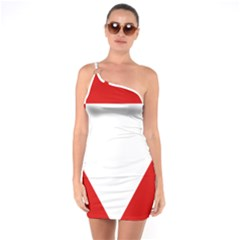 Roundel Of Austrian Air Force  One Soulder Bodycon Dress