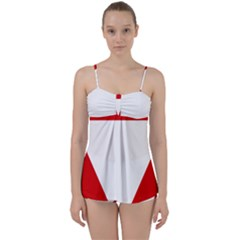 Roundel Of Austrian Air Force  Babydoll Tankini Set