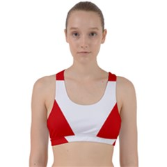 Roundel Of Austrian Air Force  Back Weave Sports Bra