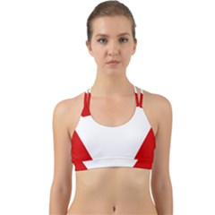 Roundel Of Austrian Air Force  Back Web Sports Bra