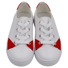 Roundel Of Austrian Air Force  Kids  Low Top Canvas Sneakers