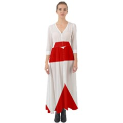 Roundel Of Austrian Air Force  Button Up Boho Maxi Dress