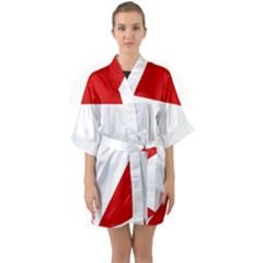 Roundel Of Austrian Air Force  Quarter Sleeve Kimono Robe