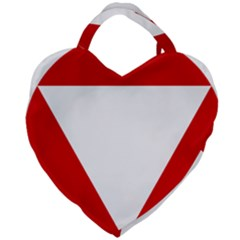 Roundel Of Austrian Air Force  Giant Heart Shaped Tote