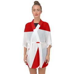 Roundel Of Austrian Air Force  Half Sleeve Chiffon Kimono