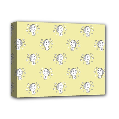 Cute Kids Drawing Motif Pattern Deluxe Canvas 14  X 11  by dflcprints