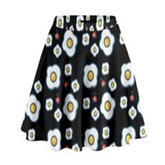 Eggs Black High Waist Skirt by snowwhitegirl