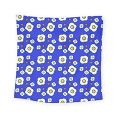 Eggs Blue Square Tapestry (small) by snowwhitegirl