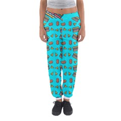 Fast Food Blue Women s Jogger Sweatpants by snowwhitegirl