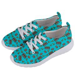 Fast Food Blue Women s Lightweight Sports Shoes by snowwhitegirl