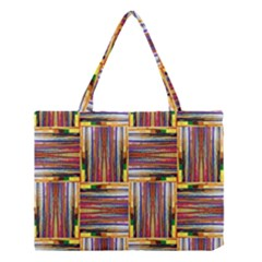 Artwork By Patrick Squares 3 Medium Tote Bag by ArtworkByPatrick
