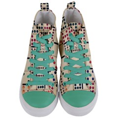 Old Domino Stones Women s Mid Top Canvas Sneakers