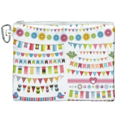 Owl Pattern Canvas Cosmetic Bag (xxl) by Sapixe