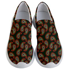 Pattern Abstract Paisley Swirls Women s Lightweight Slip Ons by Sapixe