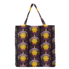Pattern Background Yellow Bright Grocery Tote Bag by Sapixe