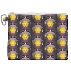 Pattern Background Yellow Bright Canvas Cosmetic Bag (xxl) by Sapixe
