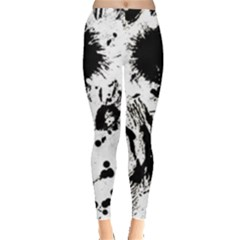 Pattern Color Painting Dab Black Leggings  by Sapixe