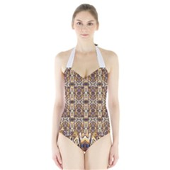 Artwork By Patrick Pattern 36 Halter Swimsuit
