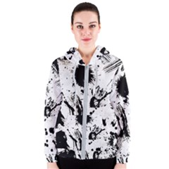 Pattern Color Painting Dab Black Women s Zipper Hoodie by Sapixe