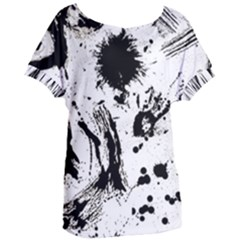 Pattern Color Painting Dab Black Women s Oversized Tee by Sapixe