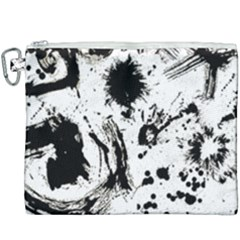 Pattern Color Painting Dab Black Canvas Cosmetic Bag (xxxl) by Sapixe